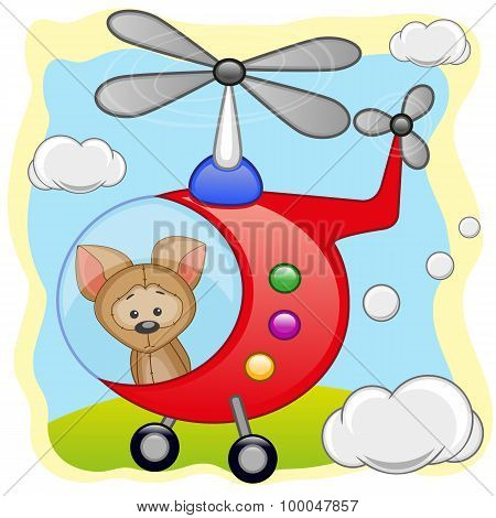 Puppy In Helicopter