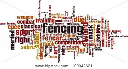 Fencing Word Cloud