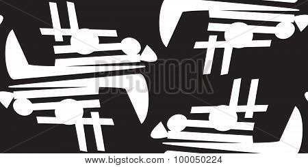 Chaotic Black And White Pattern