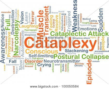 Background concept wordcloud illustration of cataplexy