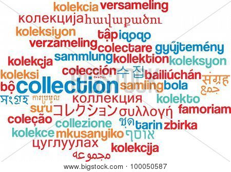 Background concept wordcloud multilanguage international many language illustration of collection