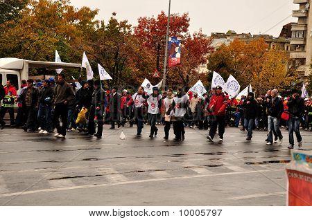 Protest Bucharest Romania