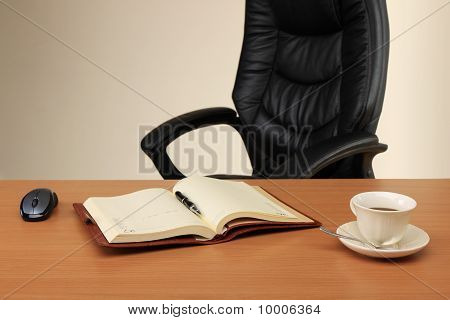 Workplace Of The Businessman Which Has Just Left