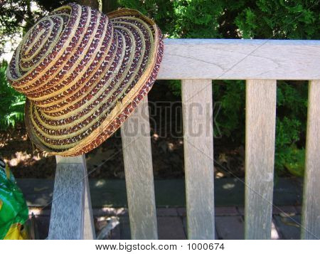 Hat On Bench