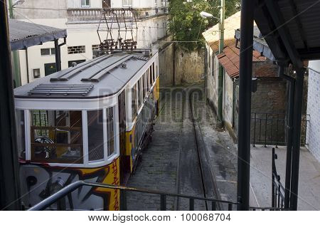End Of The Route Of Lavra Funicular