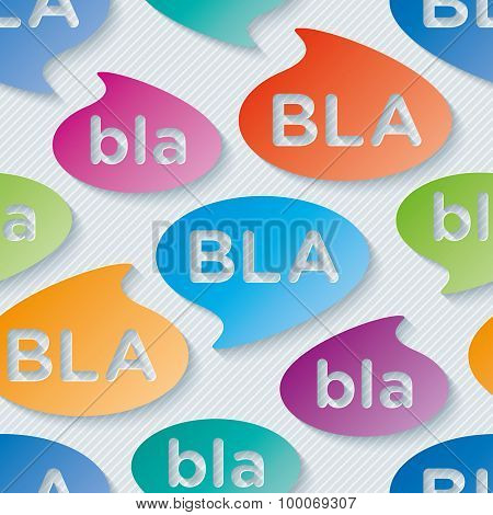 Bla-bla-bla walpaper. 3d seamless background. Vector EPS10.