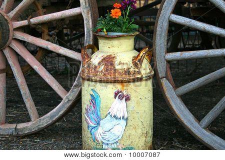 Aged flower pot