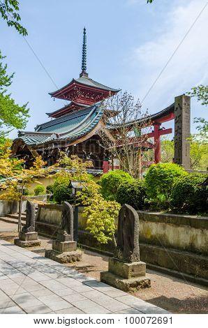 Five-story pagoda in Tohoku Japan ( Asia )