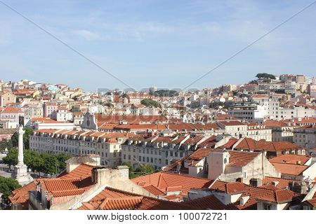 Overview Of Downtown Lisbon