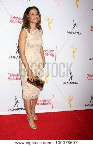 LOS ANGELES - AUG 27:  Meta Golding at the Dynamic & Diverse Emmy Celebration at the Montage Hotel on August 27, 2015 in Beverly Hills, CA