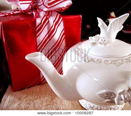 Teapot and Christmas gift