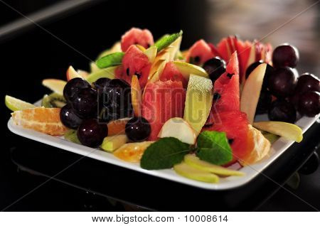 Fruits On White Plate