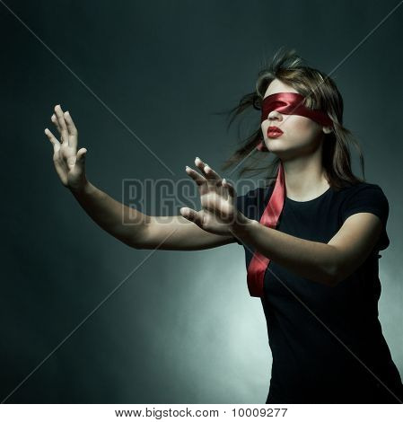 Portrait Of The Young Woman Blindfold
