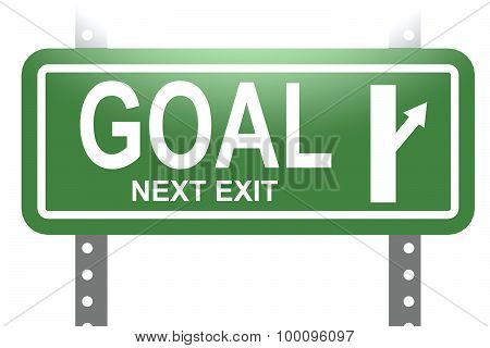 Goal Green Sign Board Isolated