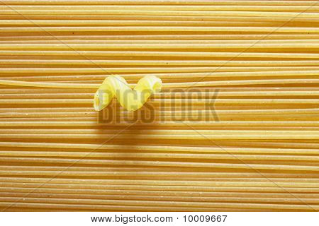 composition of different kind of dry pasta