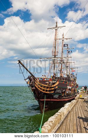 Galleon At The Pier