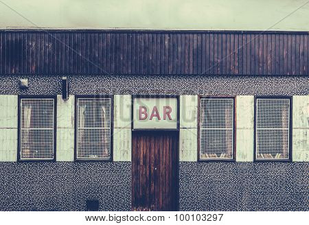Retro Grungy Urban Bar