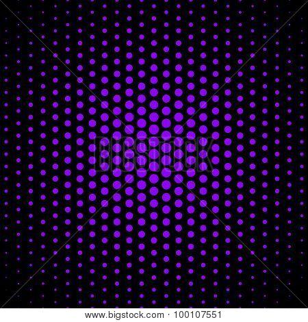 Purple techno dot on black background