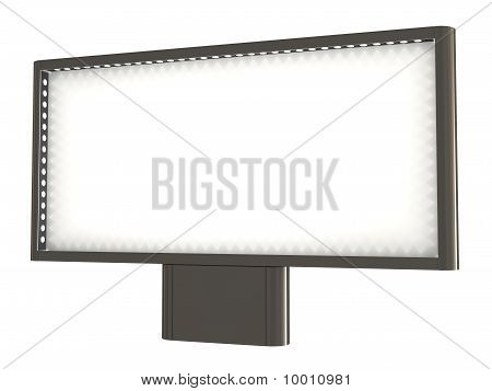Blank Billboard, with Lights, Clipping Path Included