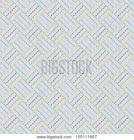 Old japanese quilting. Sashiko. Seamless pattern.