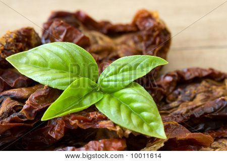 Basil And Dried Tomatoes