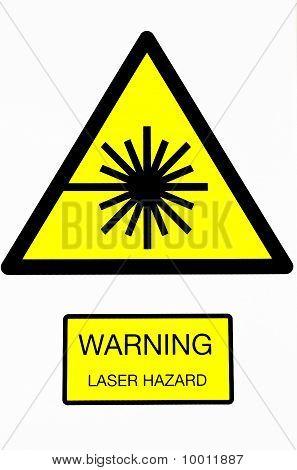 Laser hazard warning sign