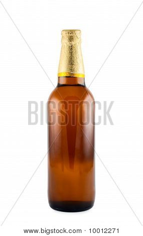 Beer Bottle  Isolated White Background. Clipping Path.