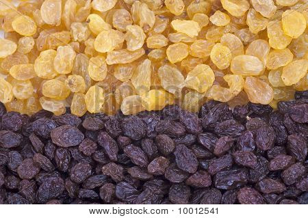 Golden And Brown Raisin Background