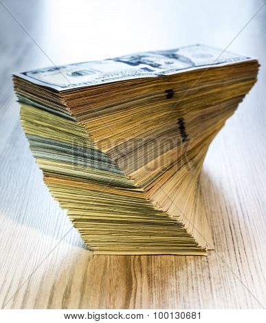 Thick stack of US cash