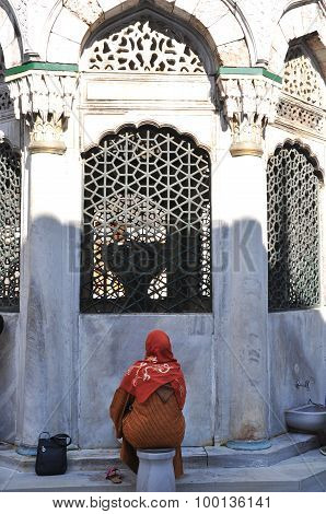 The women in the mosque ablution