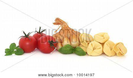 Tortellini, Herbs, Garlic And Tomatoes