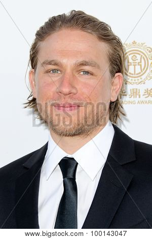 HOLLYWOOD, CA-JUN 1: Actor Charlie Hunnam attends the 2014 Huading Film Awards at The Montalban on June 1, 2014 in Hollywood, California.