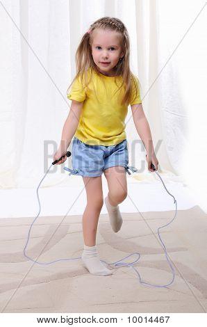 Little Girl Jumps