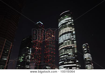 Skyscrapers At Night.