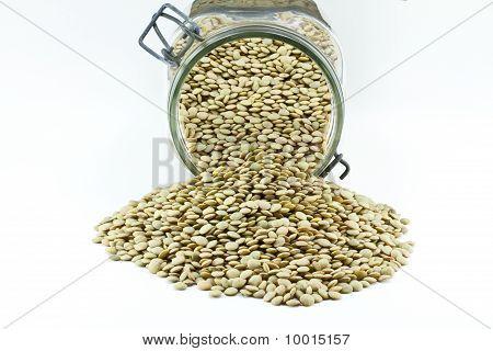 jar with lentils