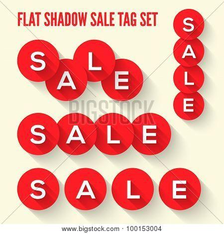 Modern flat sale tags set.