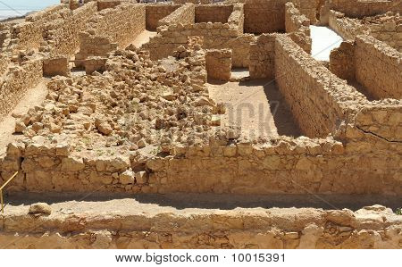 Ruins of ancient Masada fortress