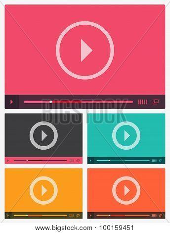 Modern flat video player interface.