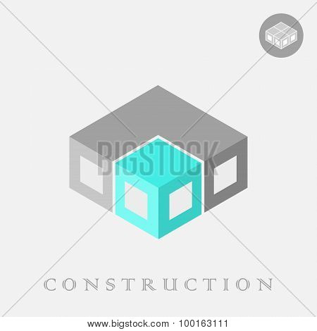 Isometric Cube Blocks Construction