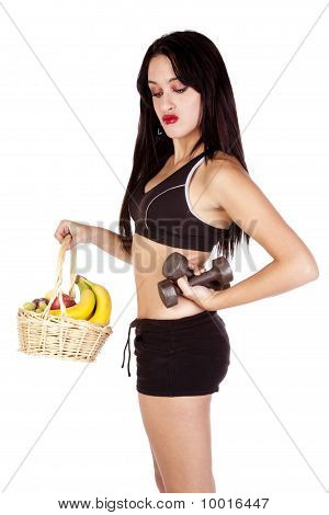 Fitness Fruit Basket Weights Look Down