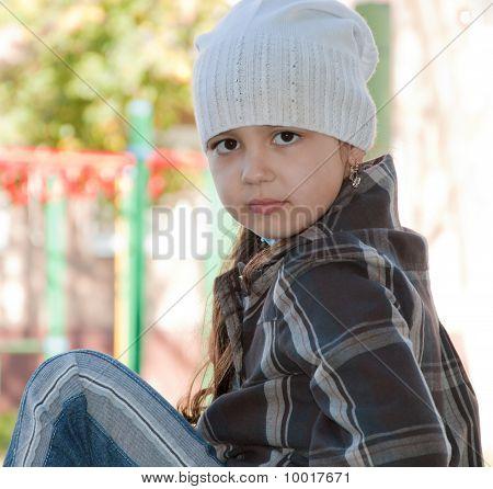 Beautiful gaze of the child