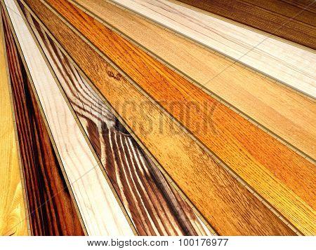 New oak parquet of different colors