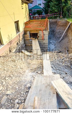 Construction Site For The Family House