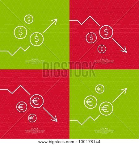 Set exchange graphs indicating.