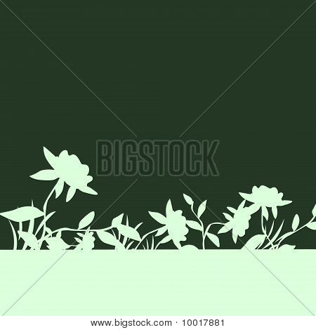 Nice Frame With Flowers