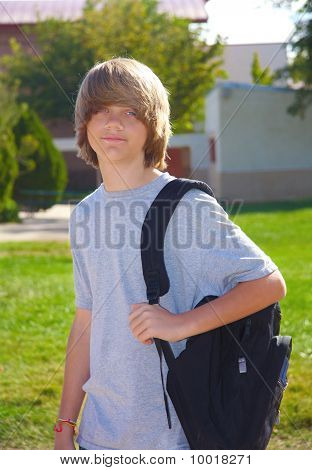 Teen Boy With Backpack
