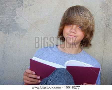Teen Boy With Book