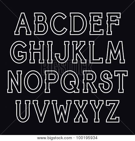Vector Serif Font