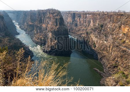 Zambezi river meander wide angle