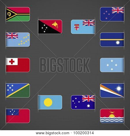 World flags collection, Oceania